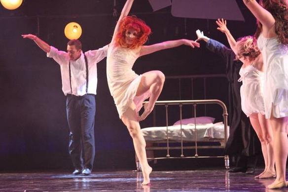 San Luis Obispo. John Proctor (Ryan Beck) dances with Betty Parris (Jenna Lee)